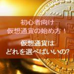 初心者向け仮想通貨の始め方!ビットコインはどれを選べばいいの?