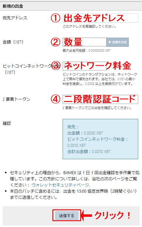 ビットメックスのビットコインアドレス